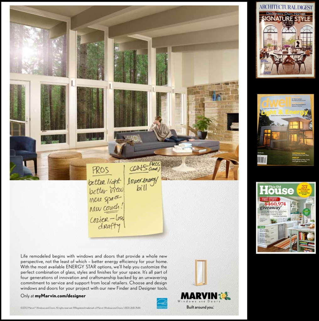 2e Architects featured in National Marvin Windows Ad Campaign