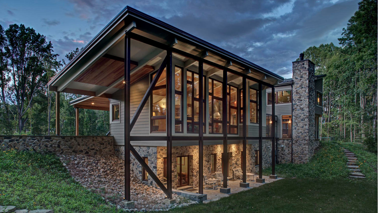 Modern Style Country Home--Net Zero