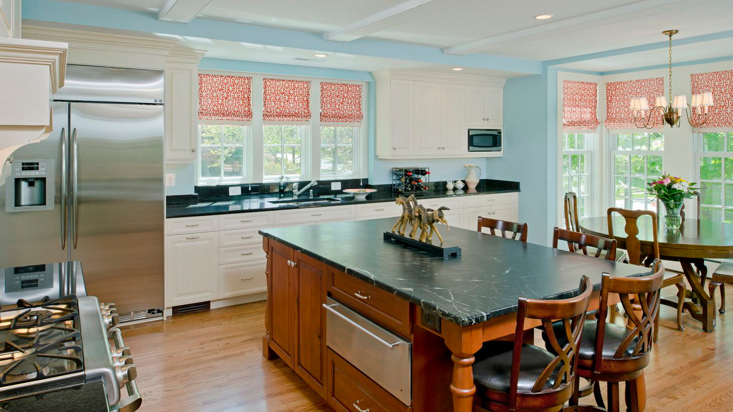 Chef's kitchen remodel using black granite
