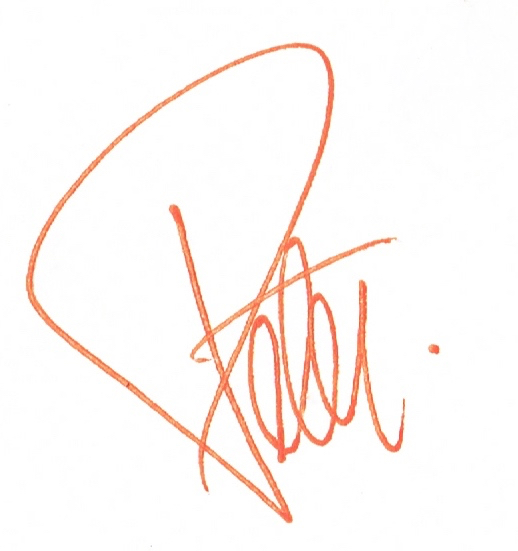 Peter Twohy's Signature--the